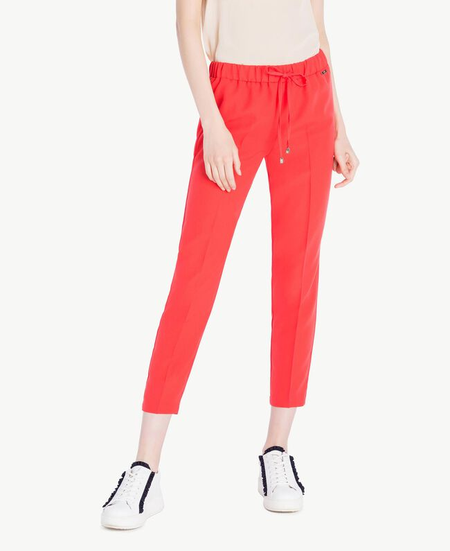 Milano Pantalon Cady FemmeRougeTwinset FemmeRougeTwinset Pantalon Cady Cigarette Cigarette I9H2WED