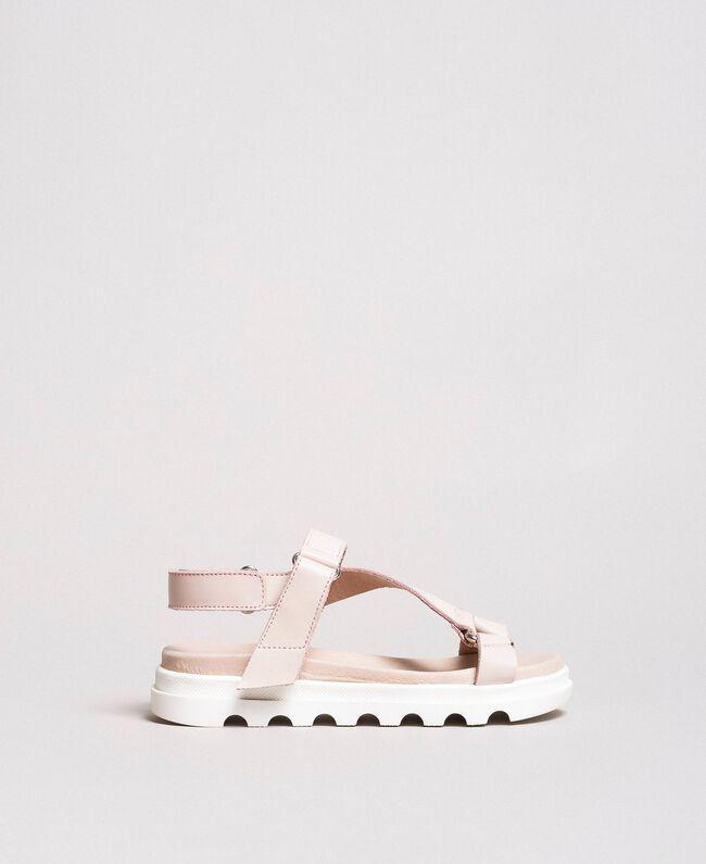 Leather sandals Blossom Pink Child 191GCJ100-01