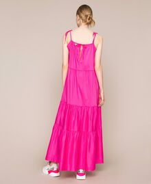 Long dress with flounces Shocking Pink Woman 201LM2AUU-03