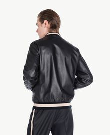 Leather bomber Black Man US82AB-03