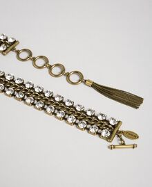 Chain jewel-belt with rhinestones and tassel Crystal Woman 192TO5340-02