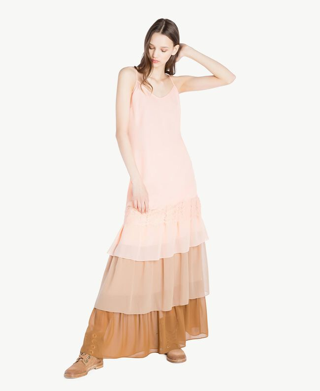 Unterkleid aus Spitze Rosafarbener Sonnenaufgang Frau SS82GR-01