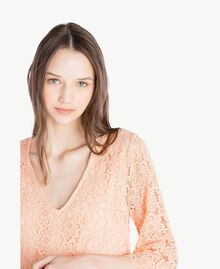 Kleid mit Spitze Rosafarbener Sonnenaufgang Frau SS82LE-04