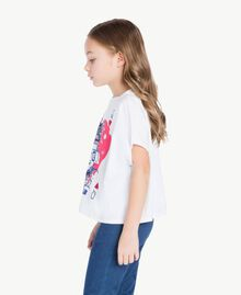 "T-shirt boxy Blanc ""Papers"" Enfant GS82A6-03"