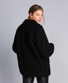 Куртка-кабан из искусственной кожи ягненка Черный женщина JA82KG-03