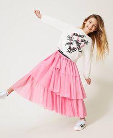 """Long tulle skirt """"Rose Bloom"""" Pink Child 211GJ2271-06"""
