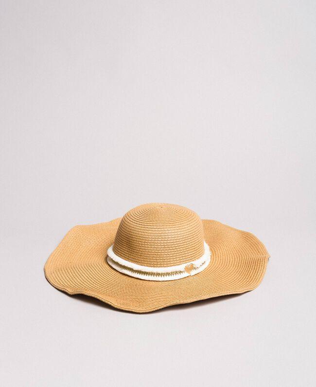 b883732b26 Cappello in paglia a tesa larga Donna, Bianco | TWINSET Milano