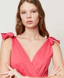 """Длинное платье из поплина Розовый """"Вишнево-розовый"""" женщина 211LM2EJJ-04"""