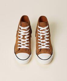 Ledersneaker mit Fransen Leder Frau 212TCP100-06