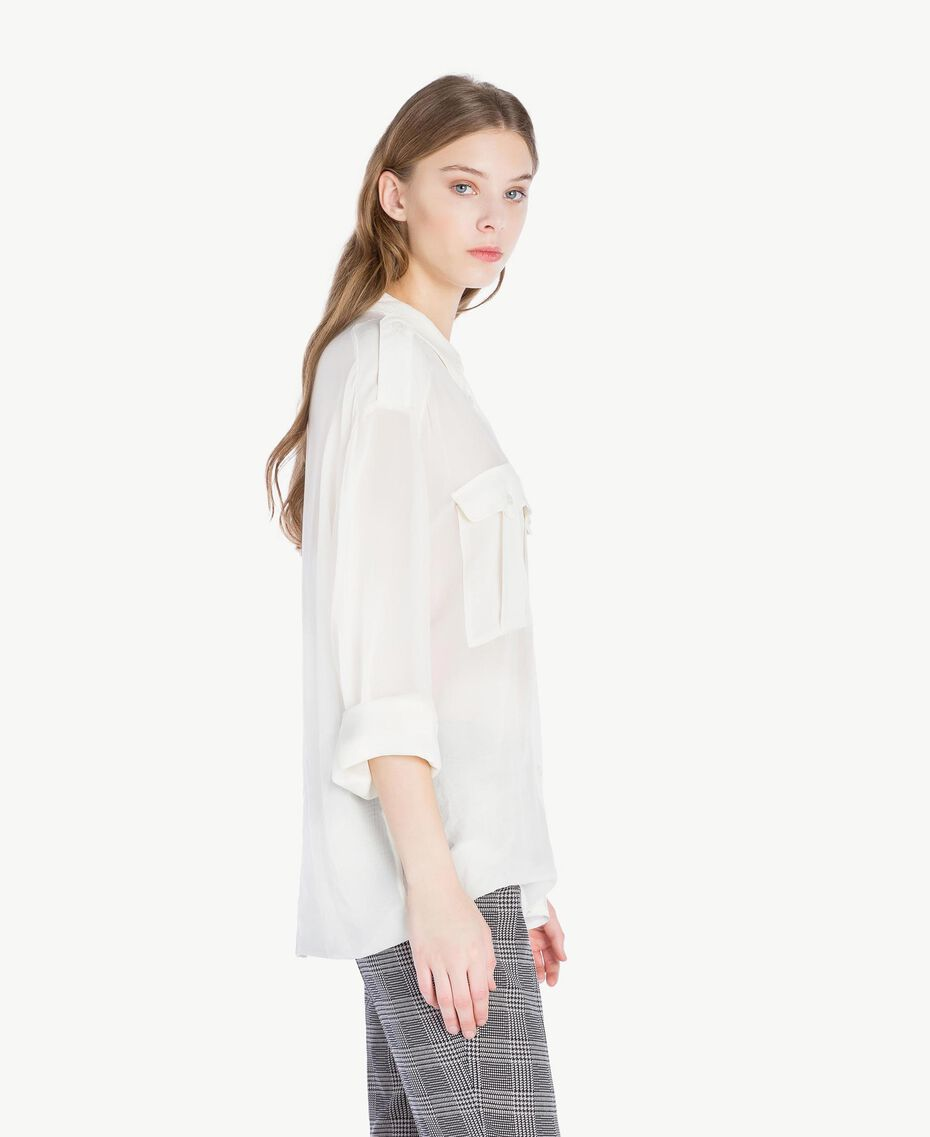 Georgette shirt Light Ivory Woman PS823F-02