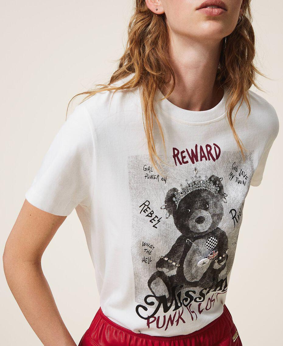 T-shirt avec imprimé et broches Off White Femme 202MT2303-01