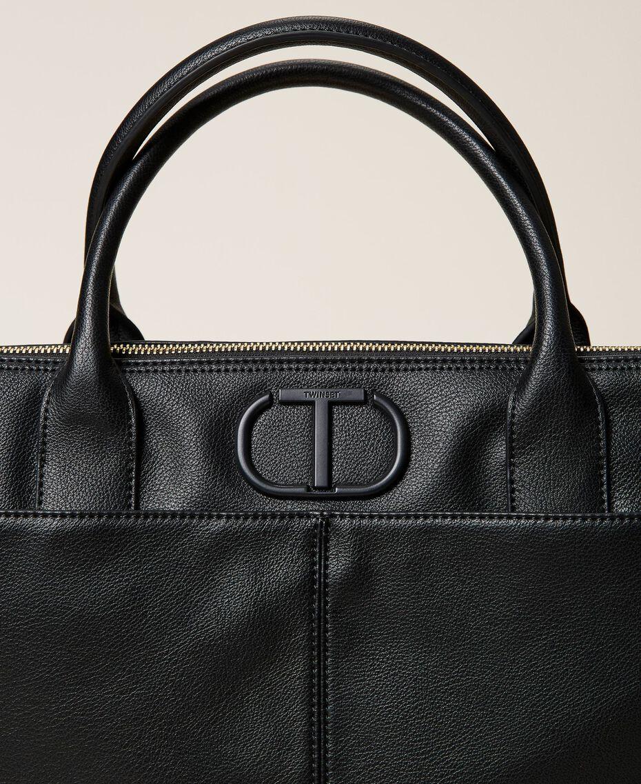 Shopper with logo Black Woman 212TB7030-03