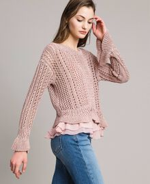 Lace stitch lurex top Pearl Pink Lurex Woman 191TP3351-02
