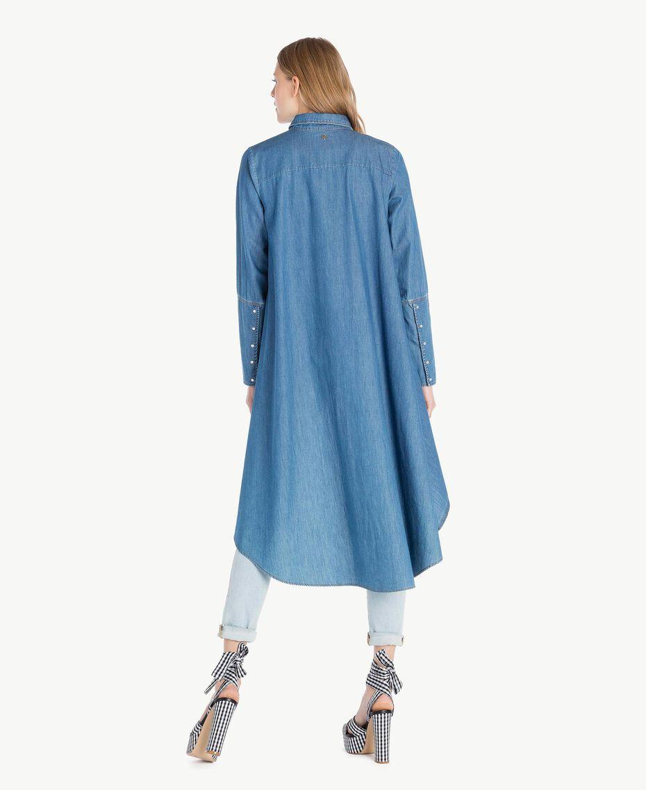 Denim maxi shirt Denim Blue Woman JS82U2-03