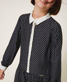 "Star shirt dress Two-tone Black / ""Snow"" White Star Print Child 202GJ2630-04"