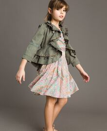Muslin dress with paisley print Paisley Print Child 191GJ2510-0T