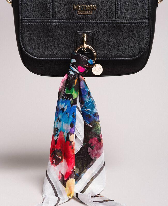 Sac à bandoulière en similicuir avec foulard Noir Femme 191MO8101-04