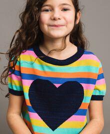 Multicolour striped cotton jumper Multicolour Striping Child 191GJ3070-0S