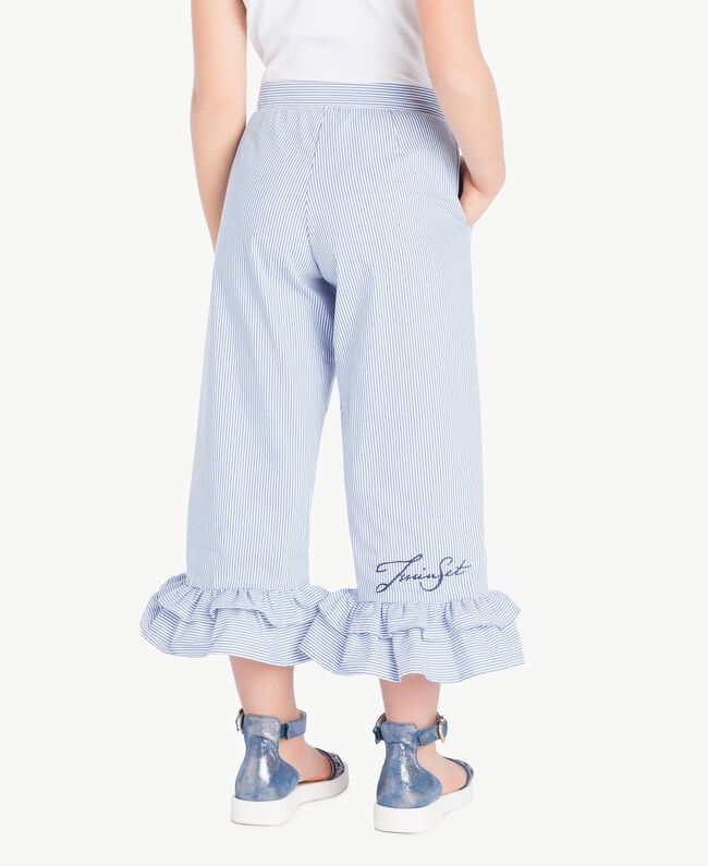 Poplin trousers Light Blue Large Stick Jacquard Child GS82LT-04