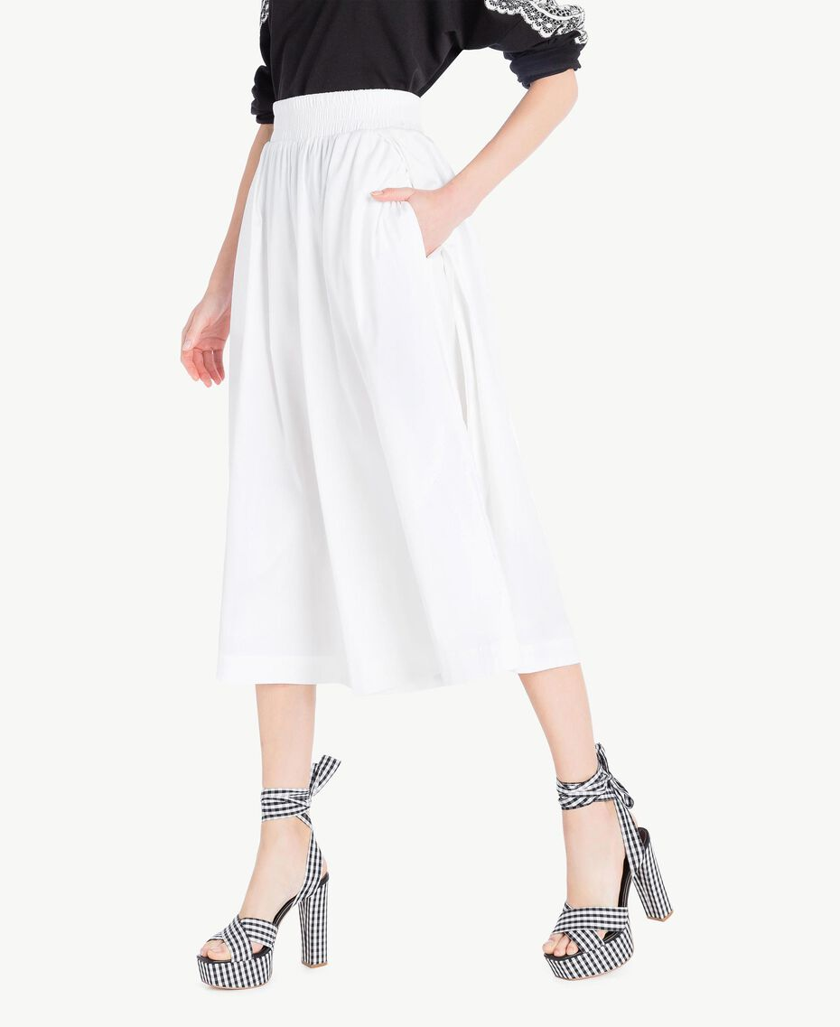 Poplin skirt White Woman JS82DM-02