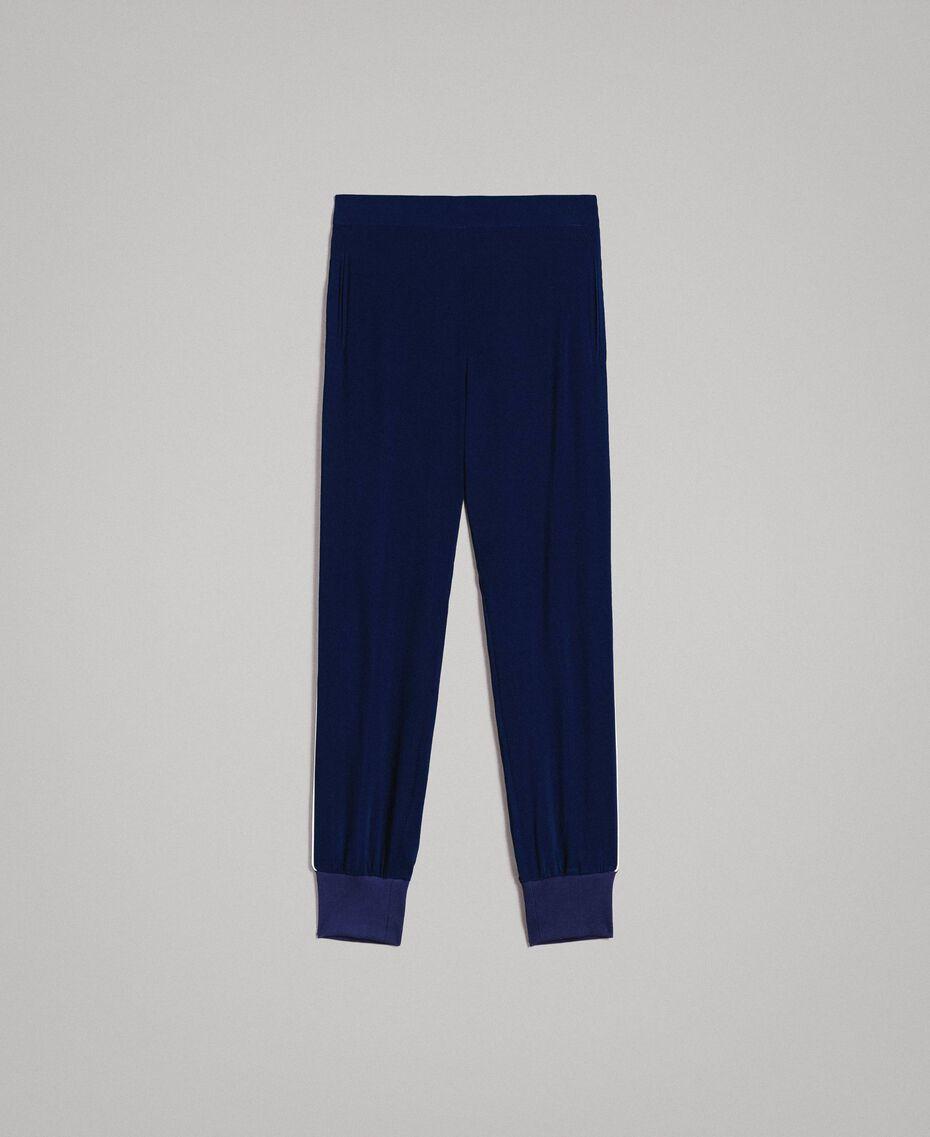 Pantalon de jogging en georgette Midnight Bleu Femme 191TP2326-0S
