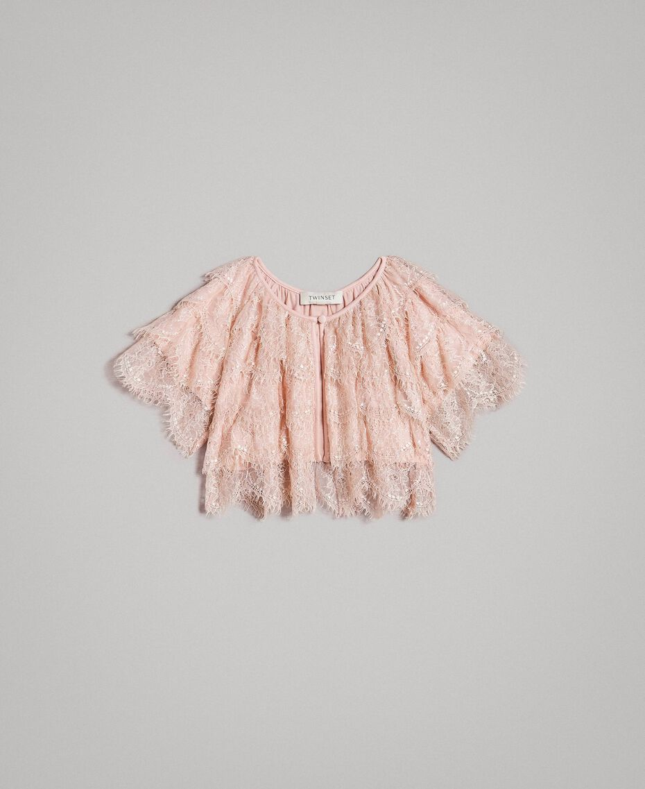 Lace shrug Blossom Pink Child 191GJ2Q92-01