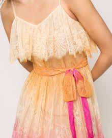Tie-dye lace dress Multicolour Tie Dye Pink Woman 201TT2281-04