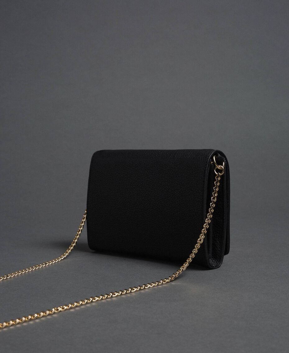 Small shoulder bag with butterfly shaped turn lock Black Woman 192TA7022-03