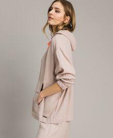 Crêpe sweatshirt with maxi pocket Delicate Pink Woman 191LL23AA-02