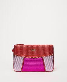Mehrfarbige Pochette aus Lederimitat Multicolor Rot / Pink / Fuchsia Frau 201MA7025-02