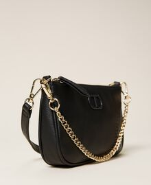 Shoulder bag with chain and logo Black Woman 212TB7050-04