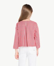 Gingham jacket Gingham / Pomegranate Red Jacquard Child GS82ZA-04