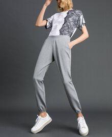 Pantalon de jogging Gris Mélangé Femme 192LI2UEE-01