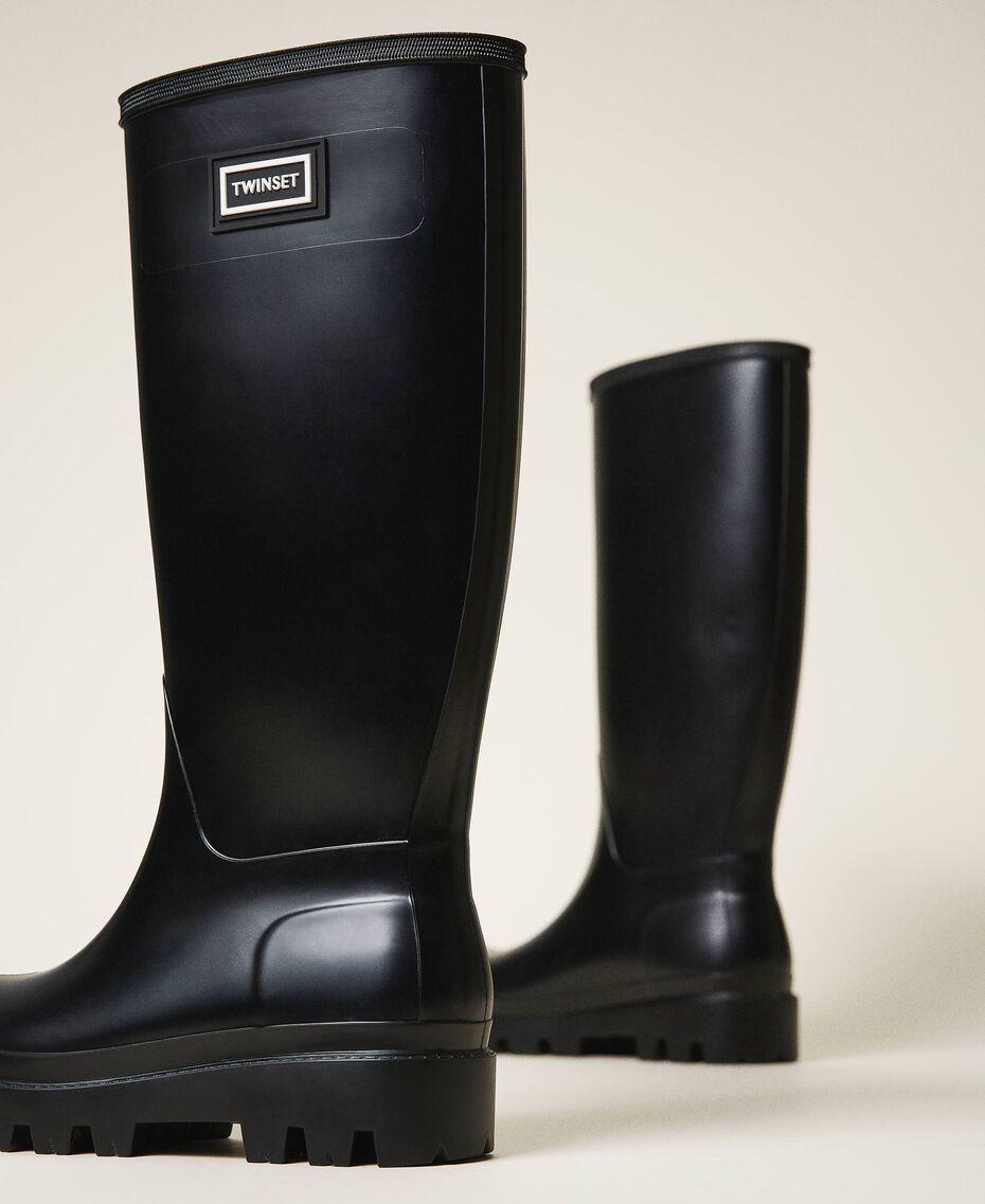 Rain boots with logo Black Woman 202TCP210-01