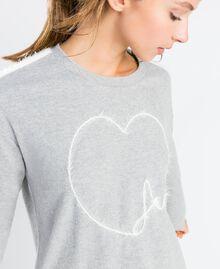 Nachthemd aus Sweatstoff Durchschnittgrau-Mélange Frau LA8MFF-04