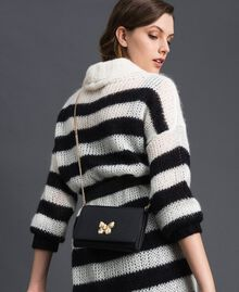 Small shoulder bag with butterfly shaped turn lock Black Woman 192TA7022-0S