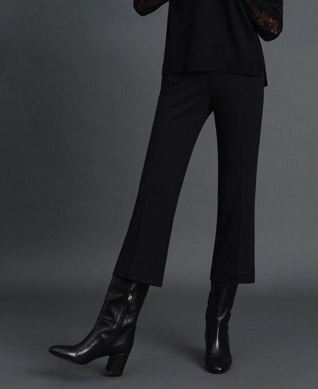 Pantalon évasé Noir Femme 192TP2092-01