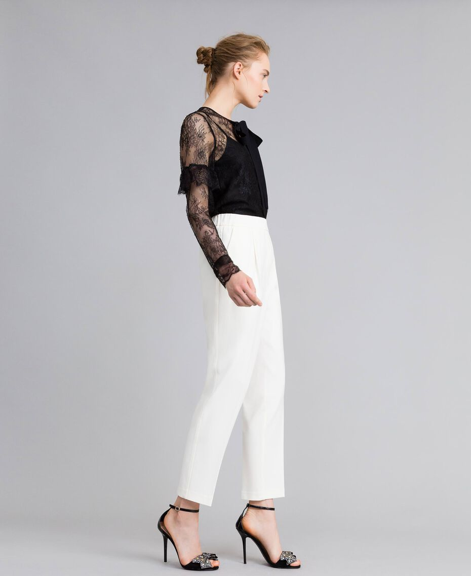 Camicia in pizzo Valencienne multicolor Nero Donna PA82FR-02