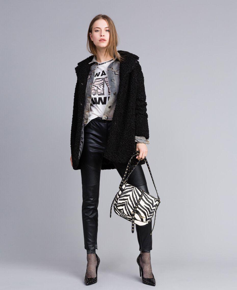 Jacke aus Denim Denim-Grau Frau JA82YC-0T