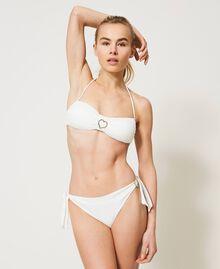 Bikinitanga mit Schleifen und Herz Elfenbein Frau 211LMME88-02