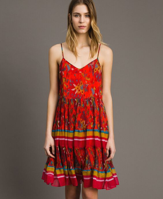 Robe en chiffon à imprimé motif floral