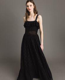 Robe longue avec broderie anglaise Noir Femme 191TT2043-02