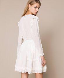 Broderie anglaise full skirt White Snow Woman 201TP2494-03