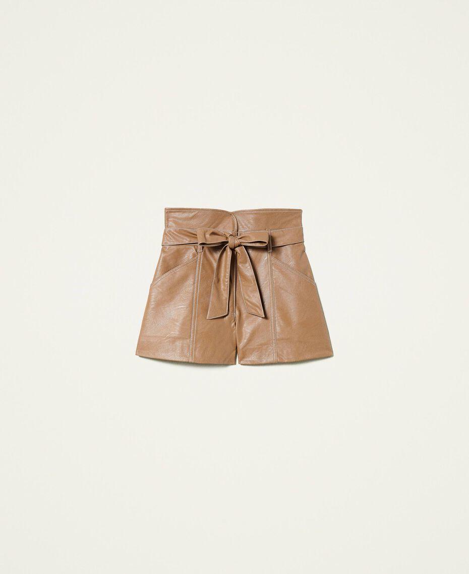 Shorts a vita alta con cintura Lampone Scuro Donna 212TP2510-0S