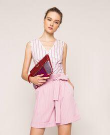 Mehrfarbige Pochette aus Lederimitat Multicolor Rot / Pink / Fuchsia Frau 201MA7025-0T
