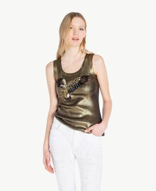 Laminated tank top Green Stone Woman YS821B-01