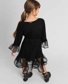 Tulle dress with flounce Black Child 192GJ2460-03