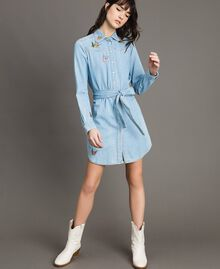 Denim shirt dress Light Denim Woman 191TP2534-02