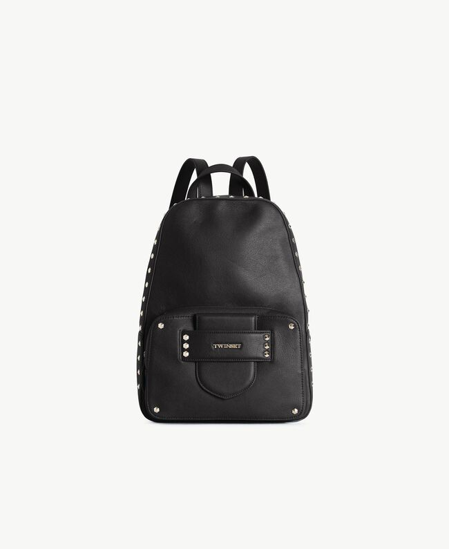 TWINSET Studded backpack Black Woman OS8TBA-01