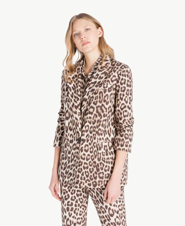 Giacca animalier Stampa Macula Donna PS824G-01